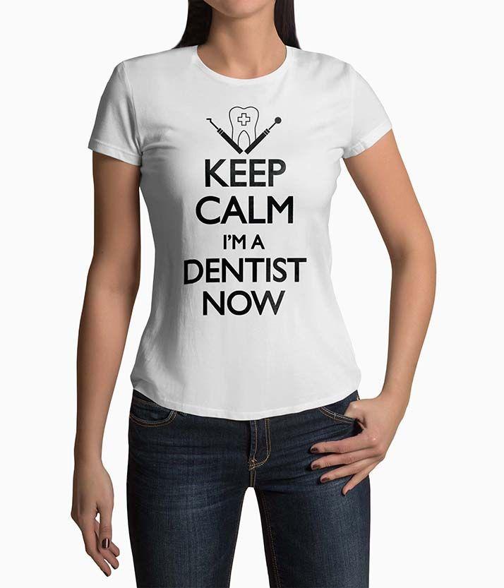 Tricou Femei Personalizat Keep Calm I'm A Dentist Now