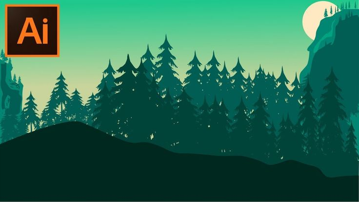 Adobe Illustrator CC Tutorial How to Make a Forest Background