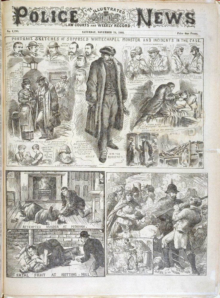 'The Whitechapel monster' from the Illustrated Police News - The British Library