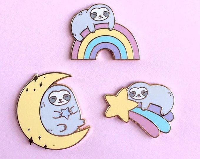 Sloth Unicorn Enamel Pin