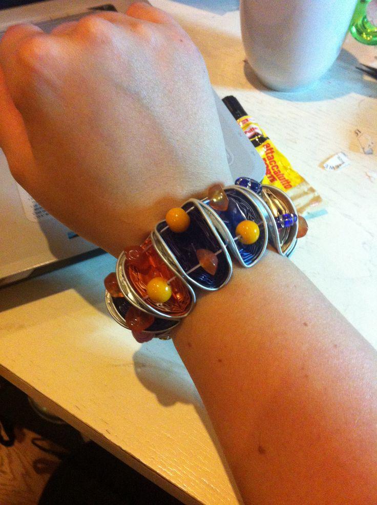 Bracelet with recycled Nespresso capsules