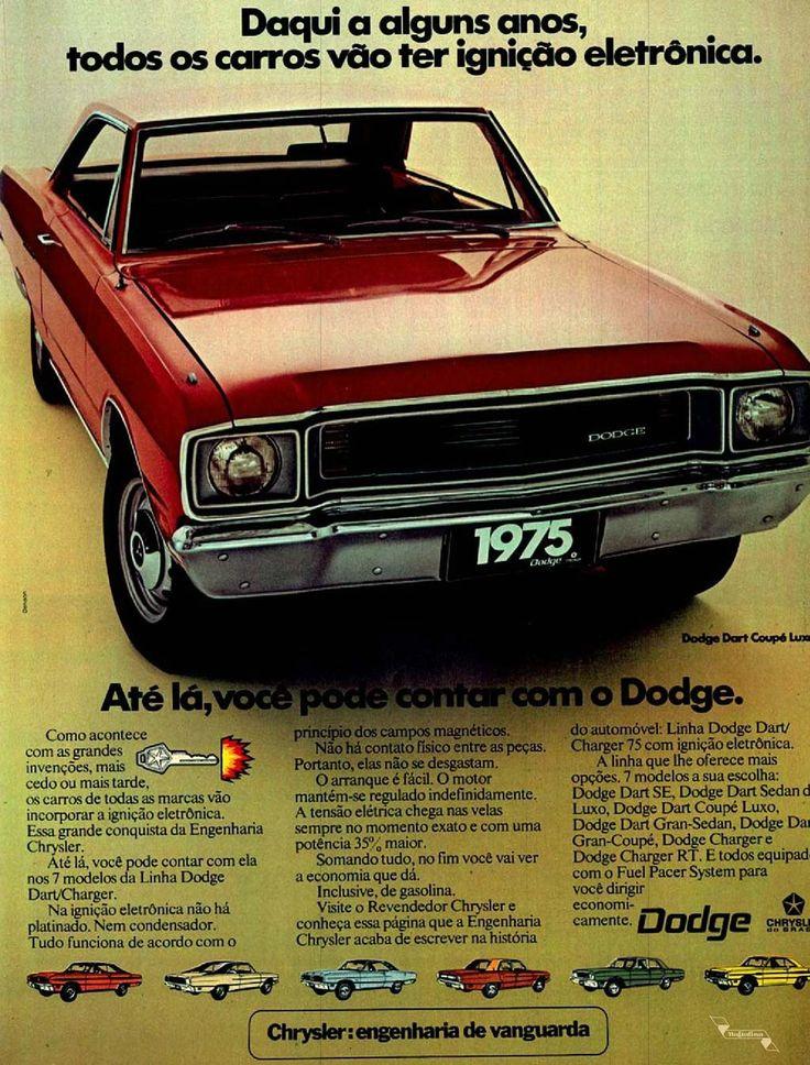 Dodge #Brasil #anos70 #retro #anunciosAntigos #vintageAds