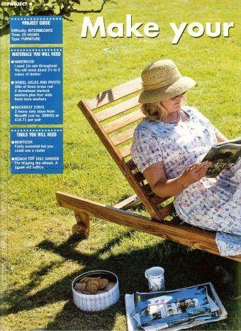 #1180 Sun Lounger Plans - Outdoor Furniture Plans Outdoor Plans