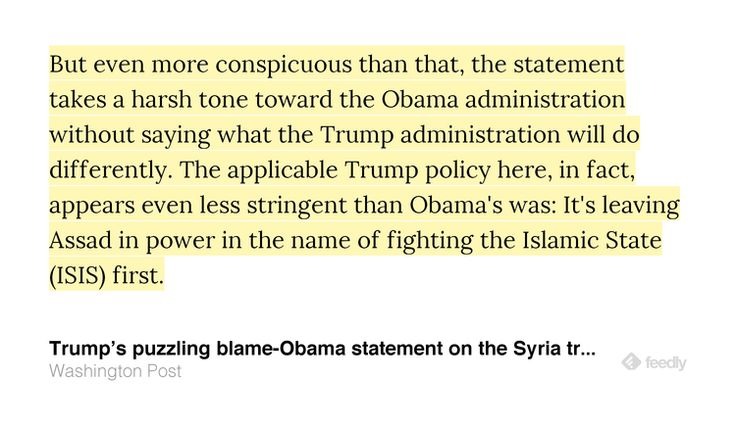 Trumps puzzling blame-Obama statement on the Syria tragedy http://j.mp/2oX1bBo IFTTT Buffer from twitter