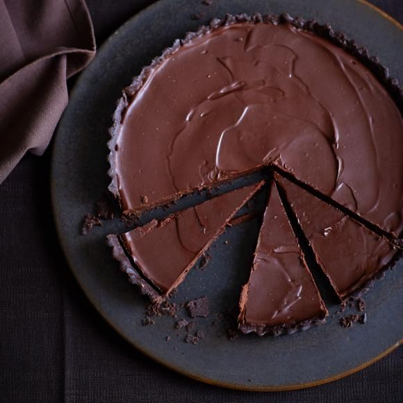 Schokoladen-Tarte. 40 Minuten.