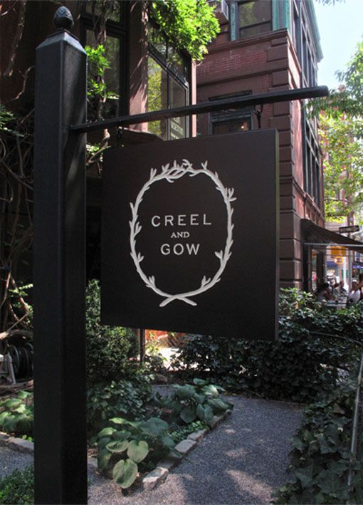 A beau­ti­fully sophis­ti­cated iden­tity by Hovard Design for Creel and Gow, an Upper East Side bou­tique. #signage