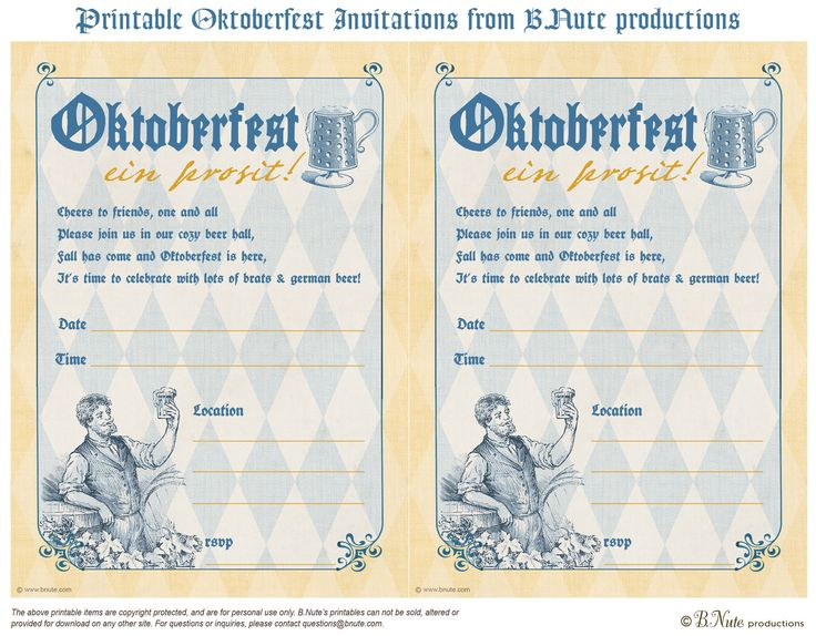 bnute productions: Free Printable Oktoberfest Invitations