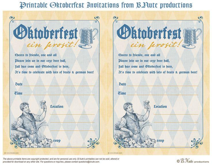 Free oktoberfest invites