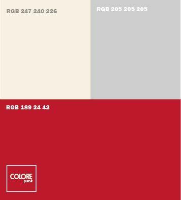 Abbinamento rosso azzurro grigio