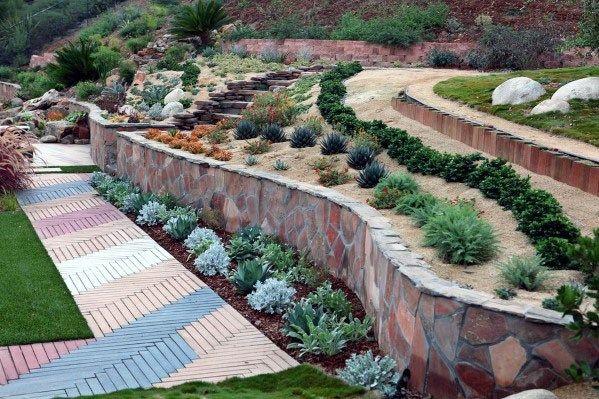 Top 50 Best Slope Landscaping Ideas Hill Softscape Designs Sloped Garden Meditation Garden Landscape Design,Free Leaflet Design Templates