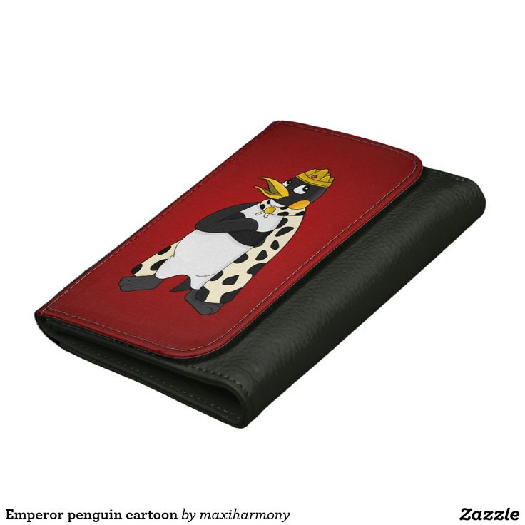 Emperor penguin cartoon leather wallets