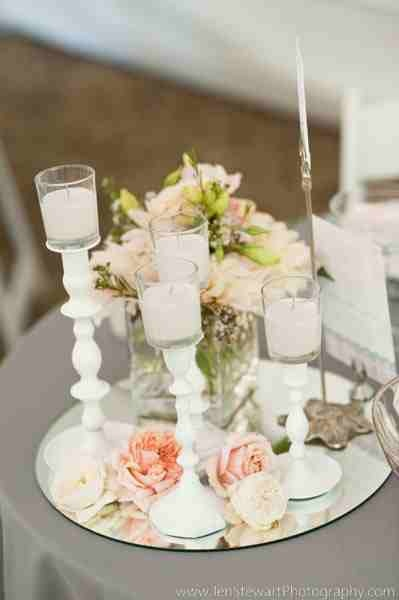 Mirror centerpiece planning the day i will marry my
