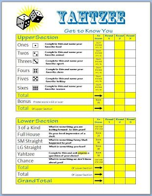 The Middle School Counselor: Need a Group Icebreaker? Play Get to Know You Yahtzee!