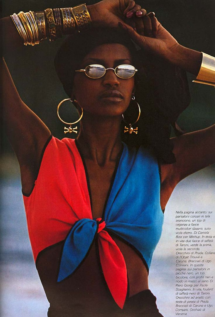 Pirate chic by Peter Lindbergh, 1980. Only in the eighties would those two words go together.