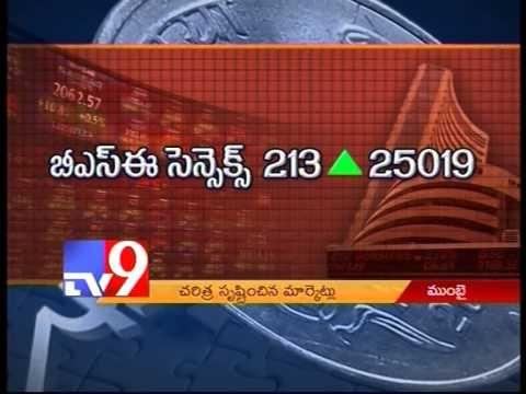 BSE Sensex crosses 25000 points, creates history