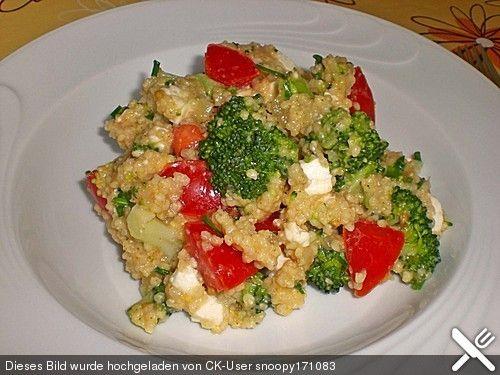 Brokkoli - Hirse mit Feta / Schafskäse, ein sehr schönes Rezept aus der Kategorie Gemüse. Bewertungen: 38. Durchschnitt: Ø 4,0.