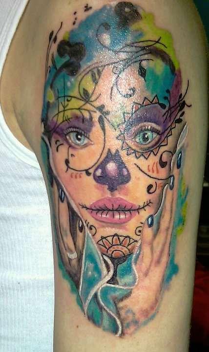 Sugar Skull Gypsy Tattoo