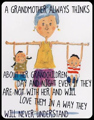 """""""A grandmother always thinks about her grandchildren …"""" • via Too Blessed to be Stressed"""