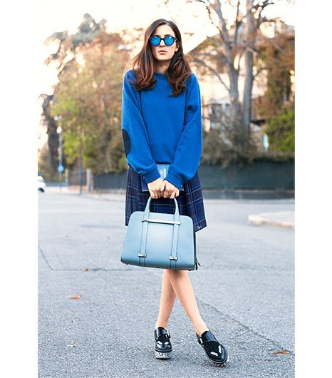 Eleonora Carisi of JouJou Villeroy On Carisi: Spektre sunglasses; Lux dress; TwinBag bag; Pollini shoes