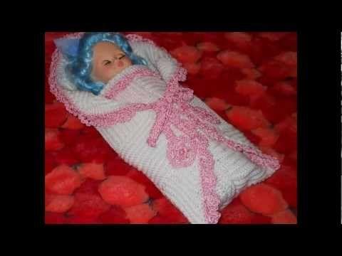 Посмотреть ролик - Видео: Конверт для новорожденного на выписку из роддома как сшить конверт для новорожденного на...