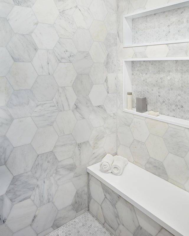 Marble Hex Master Shower Lorodesigns Shower Tile Rule Shower Wall Tile Shower Accent Tile Shower Remodel