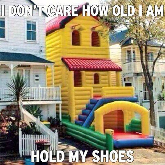 8 Bit Nerds shares the best funny pics, video game pics, sci-fi pics, fantasy pics, comic pics, and cosplay pics on the web! Bouncy house needs to be mine hold me shoes