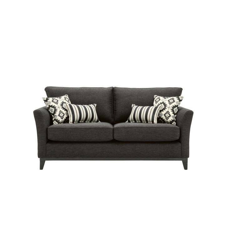 Chanel fabric sofa from domayne online using warwick key for Black fabric couches