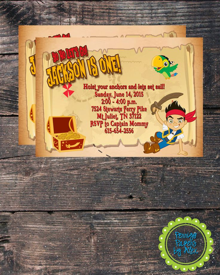 indianjones birthday party invitations printable%0A Custom Digital Jake and the Neverland Pirates   Treasure Map   Birthday  Party   Printed Invitation