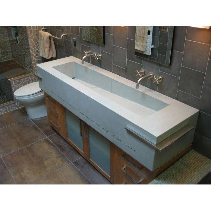 Outdoor Trough Sink : double sink vanity trough bathroom trough sinks studio trough sink ...