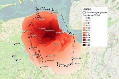 Earthquake hazard risk map Groningen