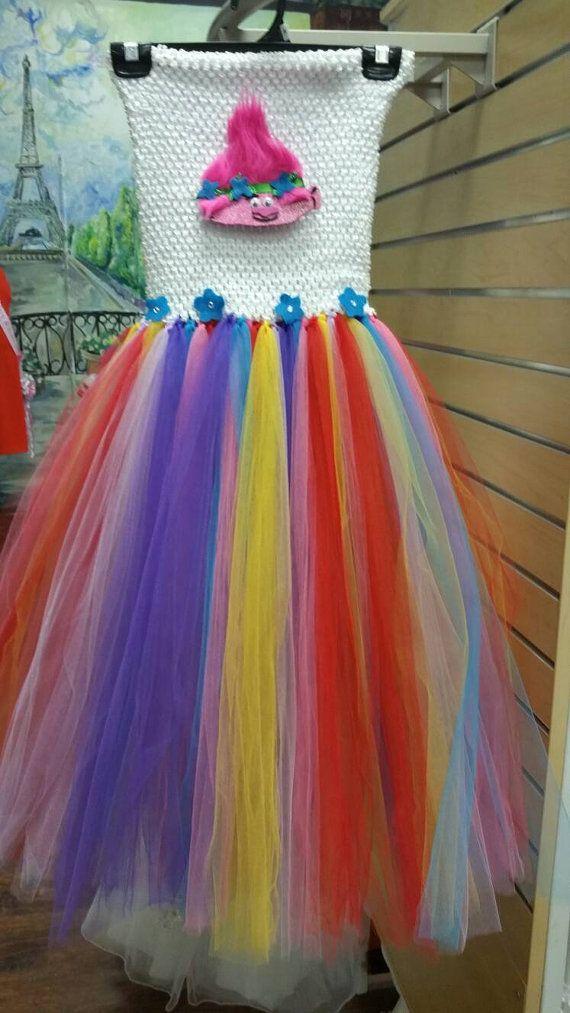 Trolls Tutu Dress Poppy Tutu Crochet Dress With By Parisianbridal Tutu Headbands