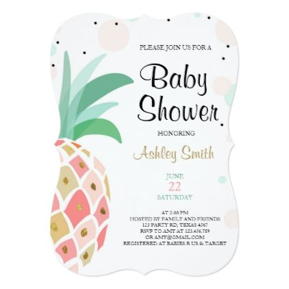 #bridal #shower #invitations - #Pineapple Baby shower invitation Tropical Bridal
