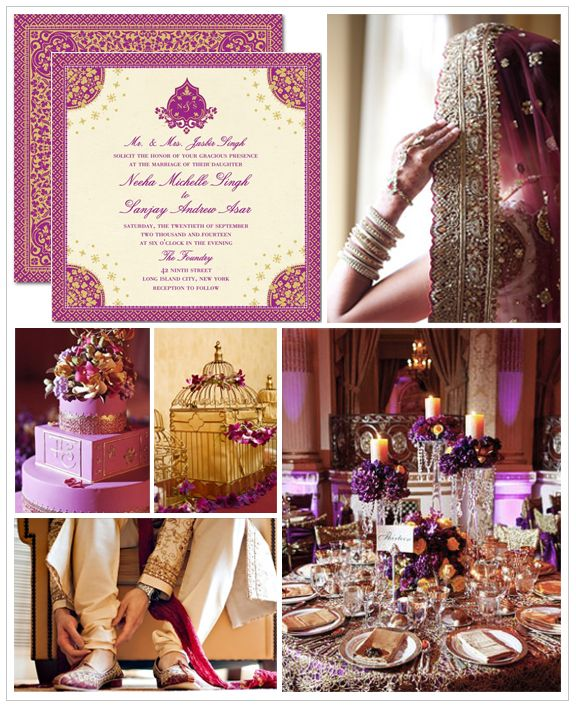indian wedding inspiration- Purple!