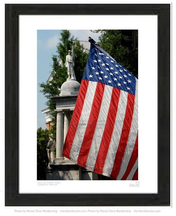 American Flag Photo Confederate Memorial by theRDBcollection