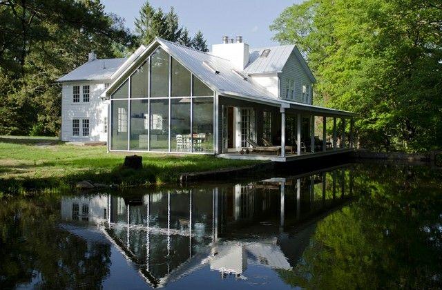 Haus viktorianische Architektur wird umgebaut restauriert
