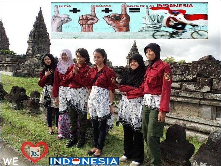 "Seperti semboyan BHINEKA TUNGGAL IKA ""walaupun berbeda suka RAS,tetap satu juga"".seperti itu persahabatan yg kami jalin . kami bangga tinggal di ngeri tercinta. jayalah negriku !!!! we love Indonesia :)"