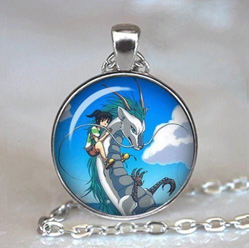 Studio Ghibli Jewelry Sen and Chihiro's Spiriting Away Spirited Away Necklace Sprited Away Dragon Hayao Miyazaki Film