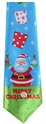 Merry Christmas Musical Necktie Santa Claus Snow Presents Plays Jingle Bells NEW #ChristmasHouse #Tie