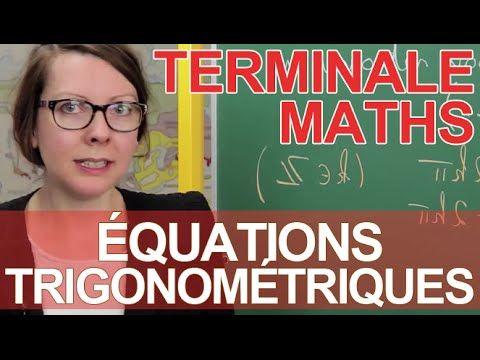 Équations trigonométriques - Exercice - Maths terminale - Les Bons Profs