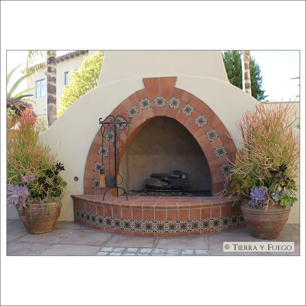 14 best backyard spanish chimney images on pinterest for Spanish outdoor fireplace