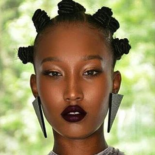 ***Try Hair Trigger Growth Elixir*** ========================= {Grow Lust Worthy Hair FASTER Naturally with Hair Trigger} ========================= Go To: www.HairTriggerr.com =========================       I Love Everything About this Look from the Bantu Knots to the Dark Wine Colored Lipstick to the Earrings!!!
