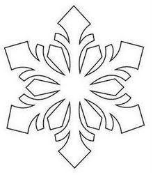 egyszerű hópehely sablon - Google keresés