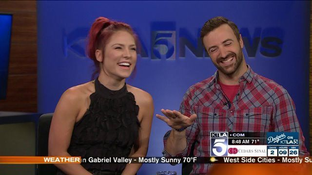 "The surprise standout couple on this season's ""Dancing with the Stars"" stopped by the KTLA Morning News to talk about transitioning from race-car driving to ballroom dancing and the stiff competition this season. You can catch Sharna and James on ""Dancing with the Stars"" Monday nights at 8 on ABC. This interview aired on Wednesday September 21st, 2016."