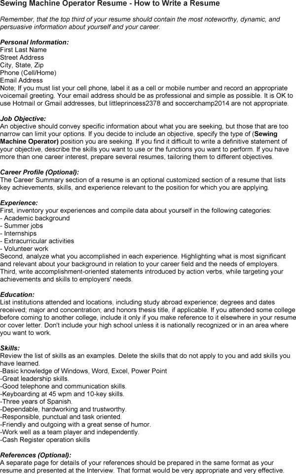 machine operator resume resumes pinterest