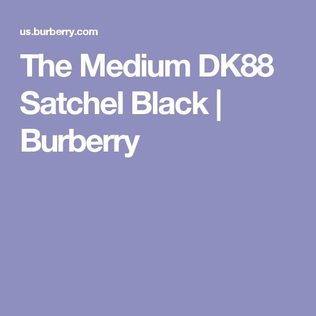 The Medium DK88 Satchel Black   Burberry