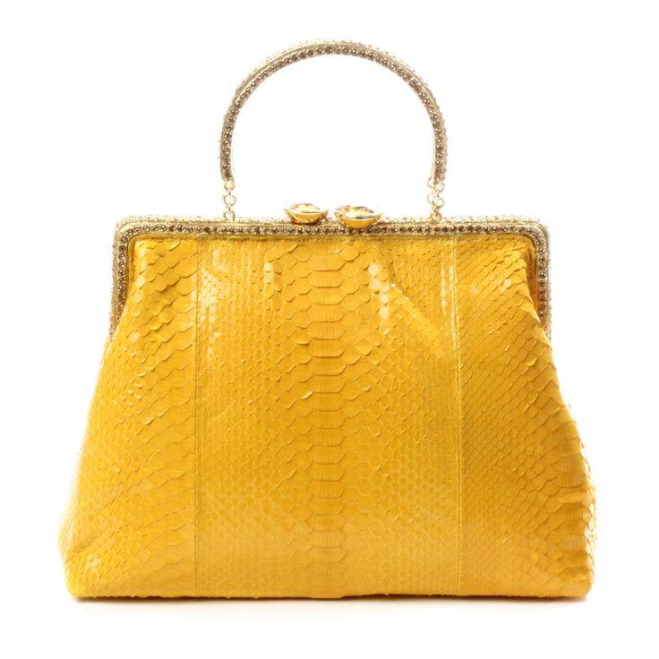 Clara Kasavina Norma python top handle satchel