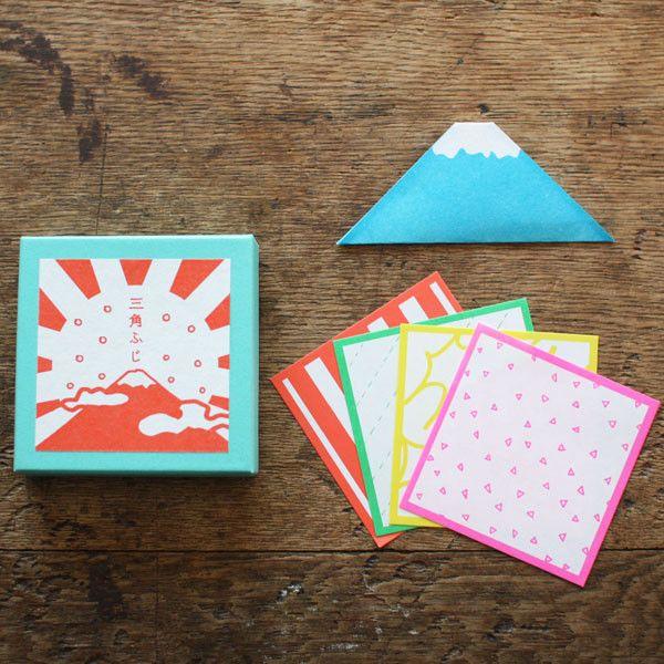 Triangle Mt. Fuji Washi Paper Notes | UGUiSU Online Store