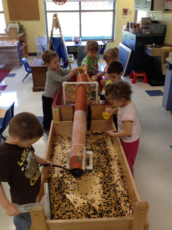 day nursery avon center preschoolers learn through sensory table