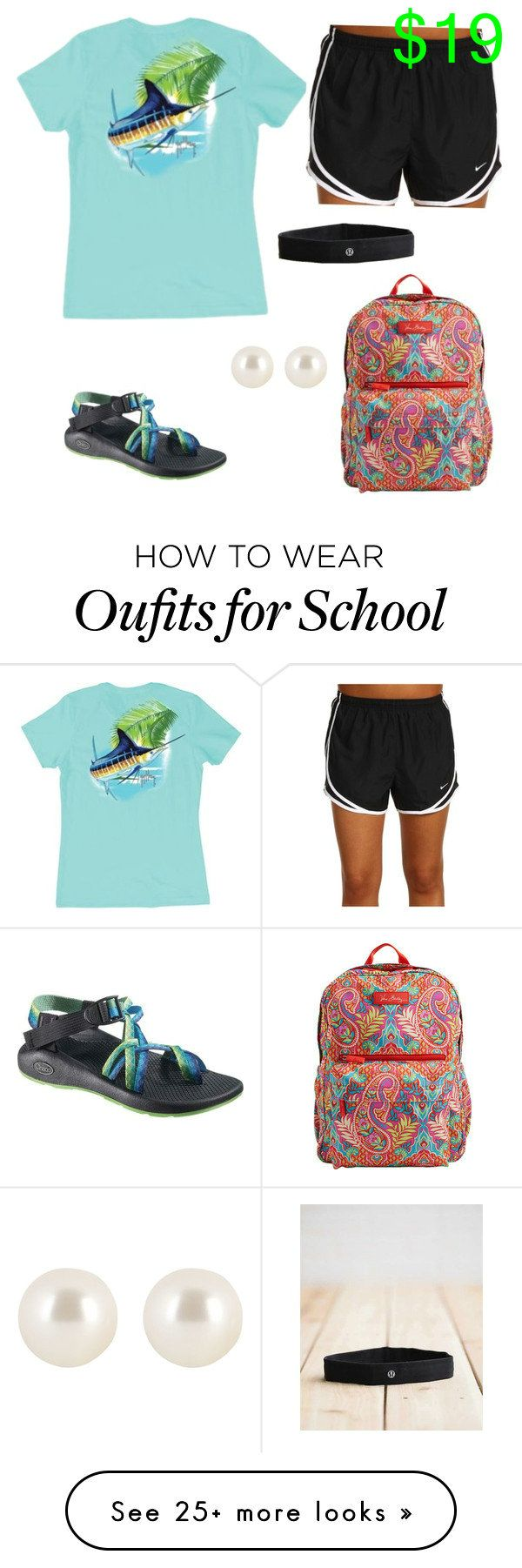School day by claires-ii on Polyvore featuring Guy Harvey, Chaco, NIKE…