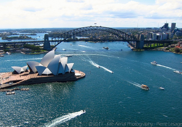 KAP on SOH (Kite Aerial Photography on Sydney opera House), via Flickr.